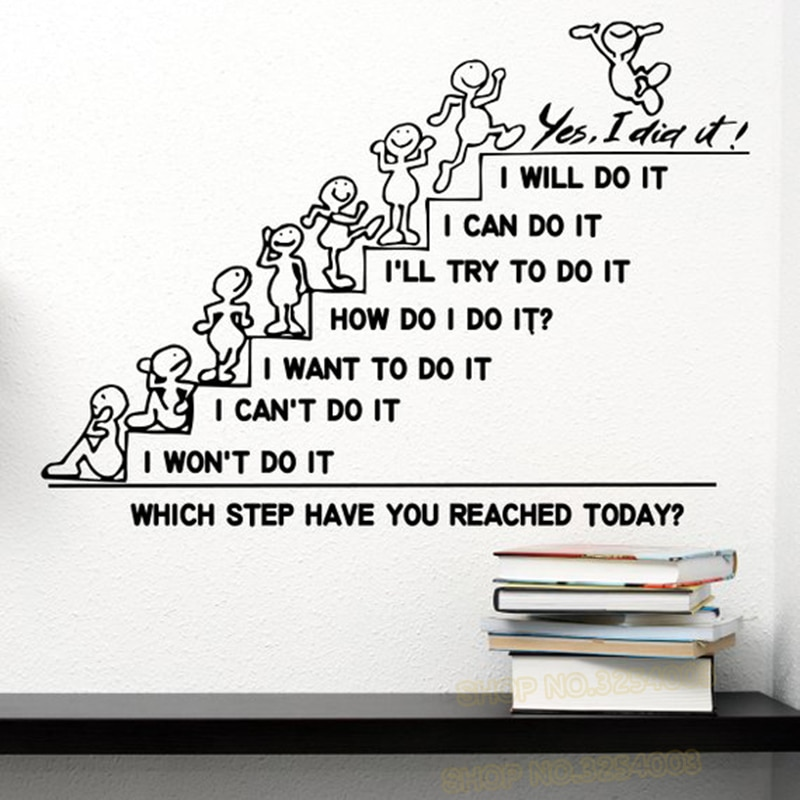 Motivational Quotes Wall Sticker